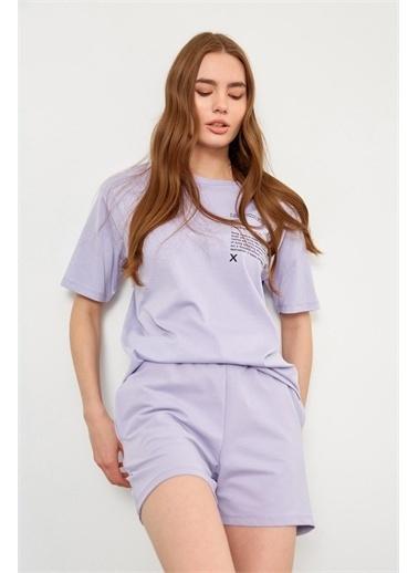 Setre Lila T-Shirt Şort Takım Lila